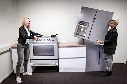 Cubiqz lichtgewicht kartonnen keukenmodules voor vastgoedstyling