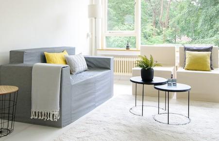 Cubiqz cardboard livingroom furniture