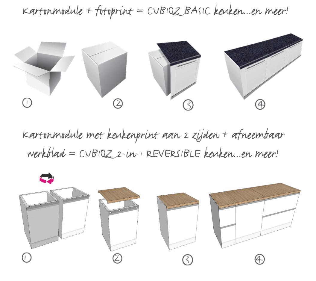 CUBIQZ kartonnen keukens, montage en installatie