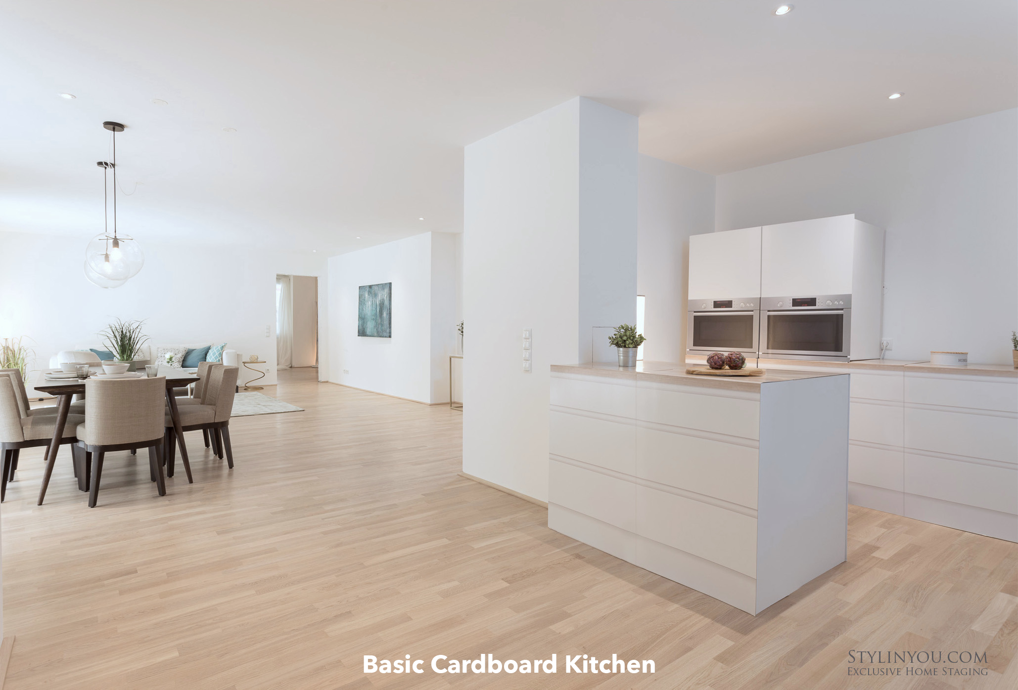 CUBIQZ Basic Cardboard Kitchen for Home Staging